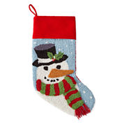 North Pole Trading Co. 3D Snowman Stocking