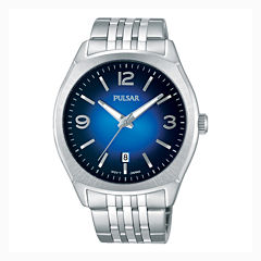 Pulsar® Men's Traditional Silver-Tone Watch PS9487