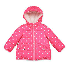 Carter's® Pink Dot Long-Sleeve Coat - Preschool Girls