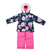 Carter's® Pink Floral Long-Sleeve Hooded Coat - Preschool  Girls