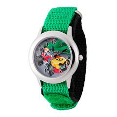 Disney Mickey Mouse Boys Green Strap Watch-Wds000180