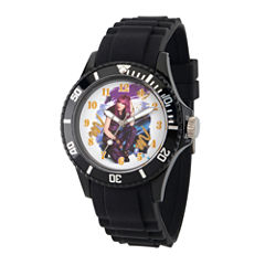 Disney Descendants Womens Black Strap Watch-Wds000243
