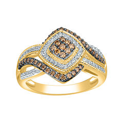 1/2 CT. T.W. White and Champagne Diamond Ring
