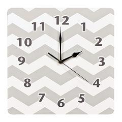 Trend Lab® Dove Gray Chevron Wall Clock