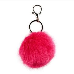 Carole Pink Fuzzy Keychain