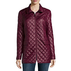 Liz Claiborne® Short Quilted Coat