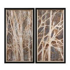 Set of 2 Twigs Framed Wall Art