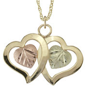 Black Hills Gold Jewelry by Coleman® Double-Heart Pendant Necklace