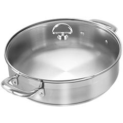 Chantal® Induction 21 Steel™ 5-qt. Sauteuse Pan with Glass Lid