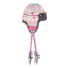 Muk Luks Faux Fur Trim Trapper Hat