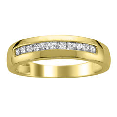 Mens 1/2 CT. T.W. Genuine White Diamond 14K Gold Wedding Band
