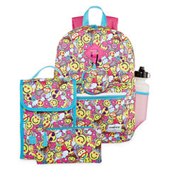 6PC SMILEY FACE BACKPACK SET