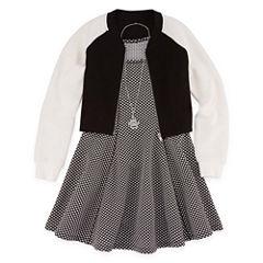 Total Girl Sleeveless Skater Dress With Jacket - Big Kid Girls