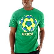 adidas® Brazil Ball Boom World Cup Tee