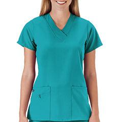 Jockey® Short-Sleeve Zipper Top