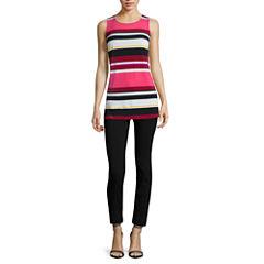 Worthington® Sleeveless Grommet Tunic or Slim-Fit Ankle Pants