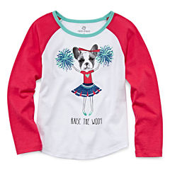 Okie Dokie® Long-Sleeve Raglan Tee - Toddler Girls 2t-5t