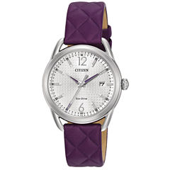Citizen Womens Purple Strap Watch-Fe6080-03a