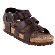 Rugged Bear Boys Strappy Buckle Sandals - Toddler