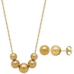 Infinite Gold Womens 2-pc. 14K Gold Jewelry Set