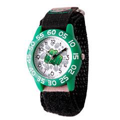 Emoji Marvel Boys Black Strap Watch-Wma000072