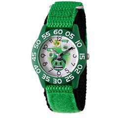 Emoji Marvel Boys Green Strap Watch-Wma000073