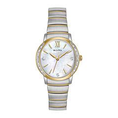 Bulova Womens Two Tone Bracelet Watch-98r231