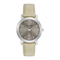 Bulova Womens Brown Strap Watch-96l233