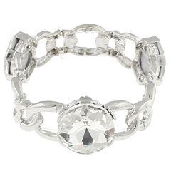 Bold Elements Womens Clear Stretch Bracelet