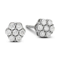 diamond blossom 1/3 CT. T.W. Diamond Cluster Stud Earrings