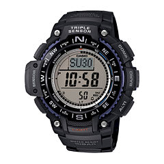 Casio® Triple Sensor Mens Black Resin Strap Digital Sport Watch SGW1000-1A