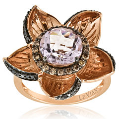 Grand Sample Sale™ by Le Vian® Cotton Candy Amethyst® & 1/2 CT.T.W. Chocolate Diamonds® and Blackberry Diamonds® in 14k Strawberry Gold® Exotics® Ring
