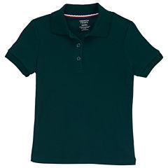French Toast Short Sleeve Polo Shirt - Big Kid Girls Plus