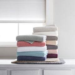 JCPenney Home™ Quick Dri Textured Solid Bath Towel Program and Quick Dri Ribbed Bath Rug Program