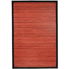 Oriental Furniture Mohogany Bamboo Rectangular Rugs