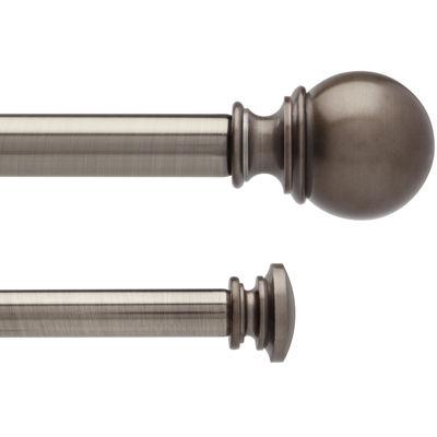 liz claiborne sierra ball double adjustable curtain rod