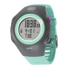 Soleus GPS Turbo Teal Silicone Strap Running Digital Sport Watch