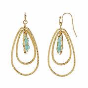 Natasha Blue 3-Row Drop Earrings
