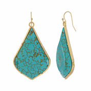 Natasha Blue Gold-Tone Drop Earrings