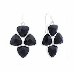 Liz Claiborne® Black Acrylic Drop Earrings