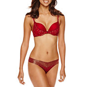 Ambrielle® Ultimate Upsize & V Lace Thong
