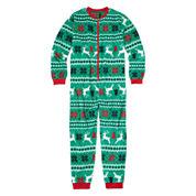 North Pole Trading Co Family Pajamas Unisex Long Sleeve One Piece Pajama-Big Kid
