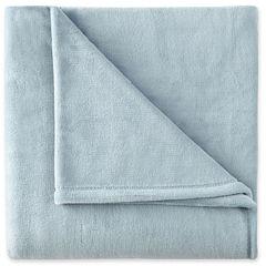 JCPenney Home™ Velvet Plush Solid Throw