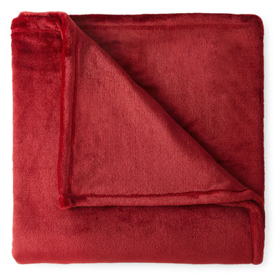 jcpenney home velvet plush throw blanket
