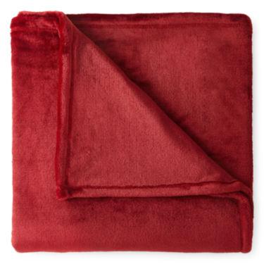 jcpenney home velvet plush throw blanket