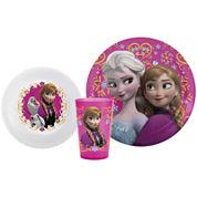 Zak Designs® Frozen Anna and Elsa 3-pc. Dinnerware Set