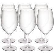 Zak Designs® Trinity Set of 6 Red Wine Glasses
