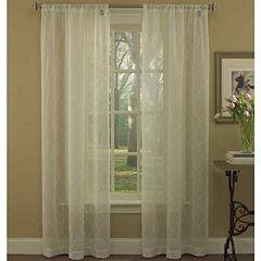 Laura Ashley® Audrey Rod-Pocket 2-Pack Sheer Curtain Panels