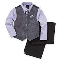 4-pc. Satin Striped Vest Set - Toddler Boys 2t-5t