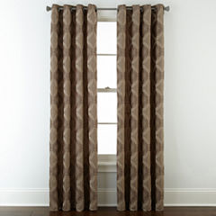 Studio™ Abbot Chenille Grommet-Top Curtain Panel